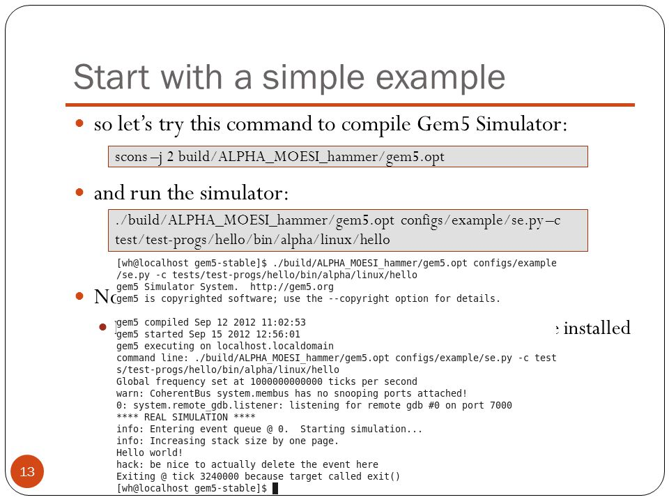 Start with a simple example