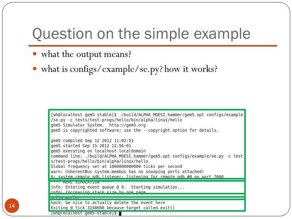 Question on the simple example