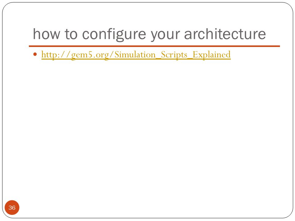 how to configure your architecture