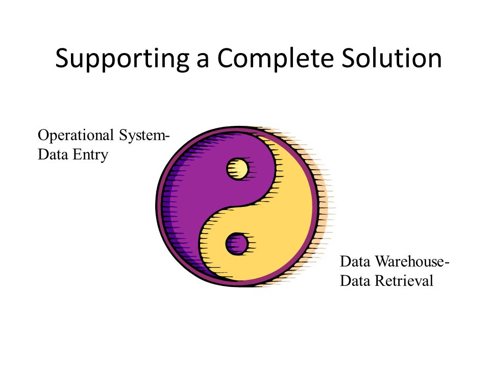 Supporting a Complete Solution