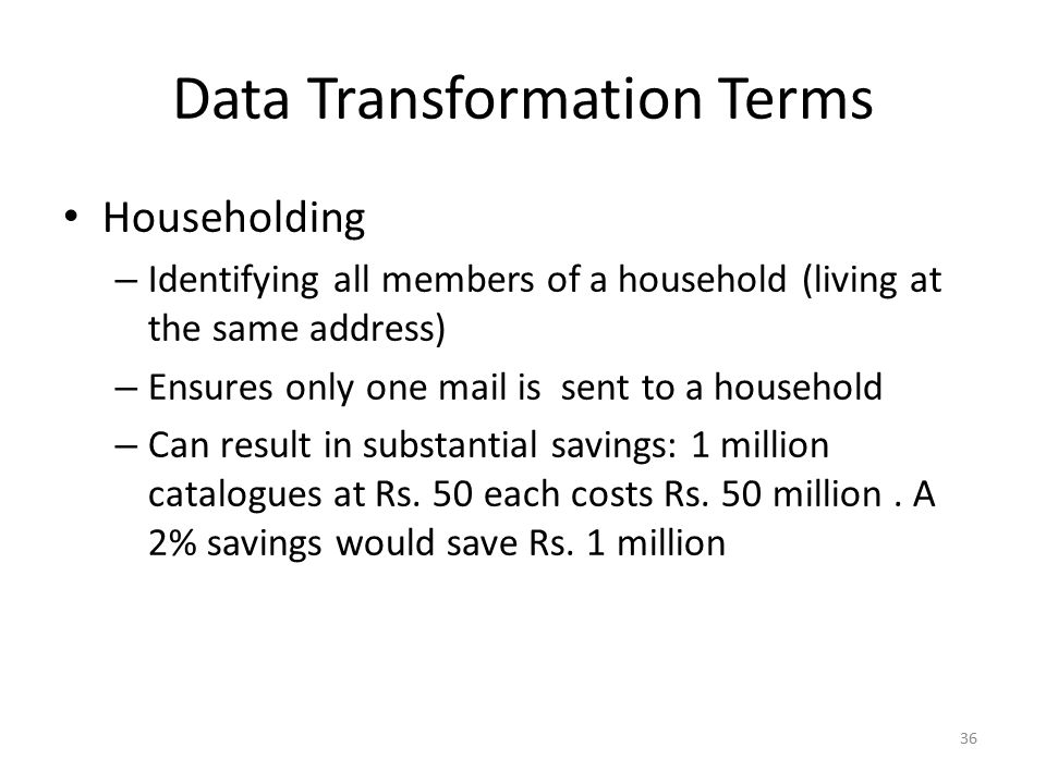 Data Transformation Terms