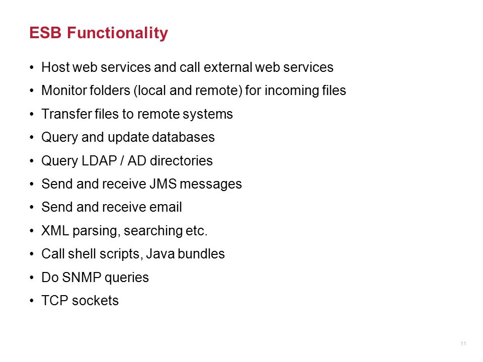 ESB Functionality Host web services and call external web services