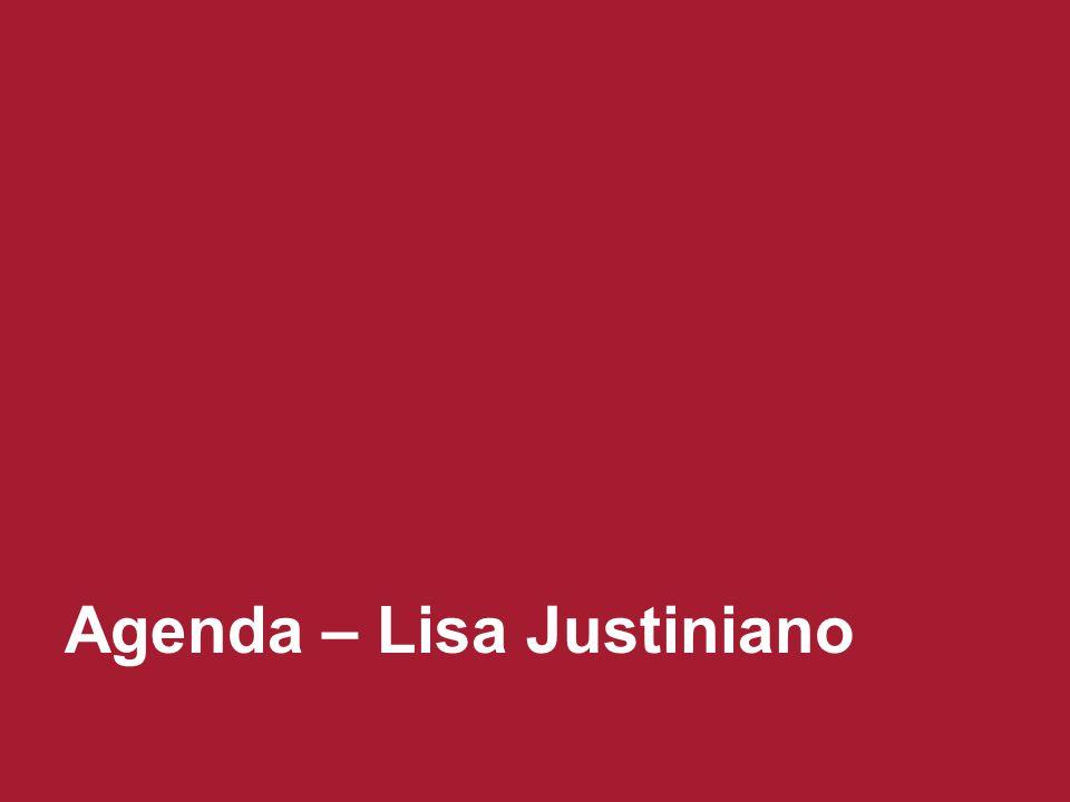 Agenda – Lisa Justiniano