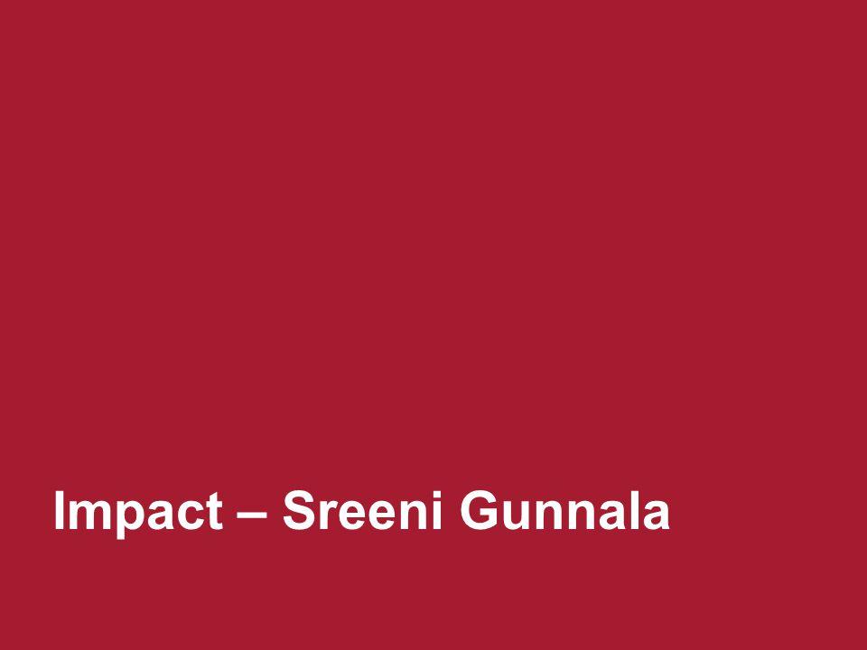Impact – Sreeni Gunnala