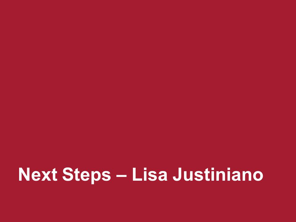 Next Steps – Lisa Justiniano