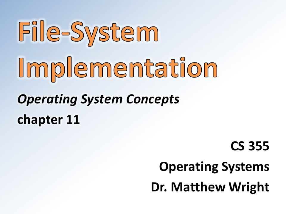 operating systems implementations