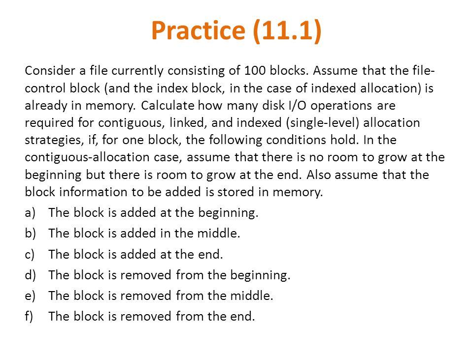 Practice (11.1)