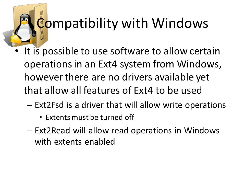 Compatibility with Windows