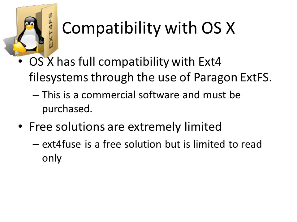 Compatibility with OS X