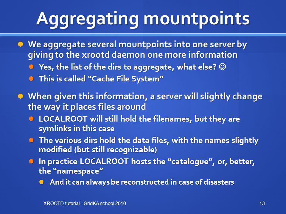 Aggregating mountpoints