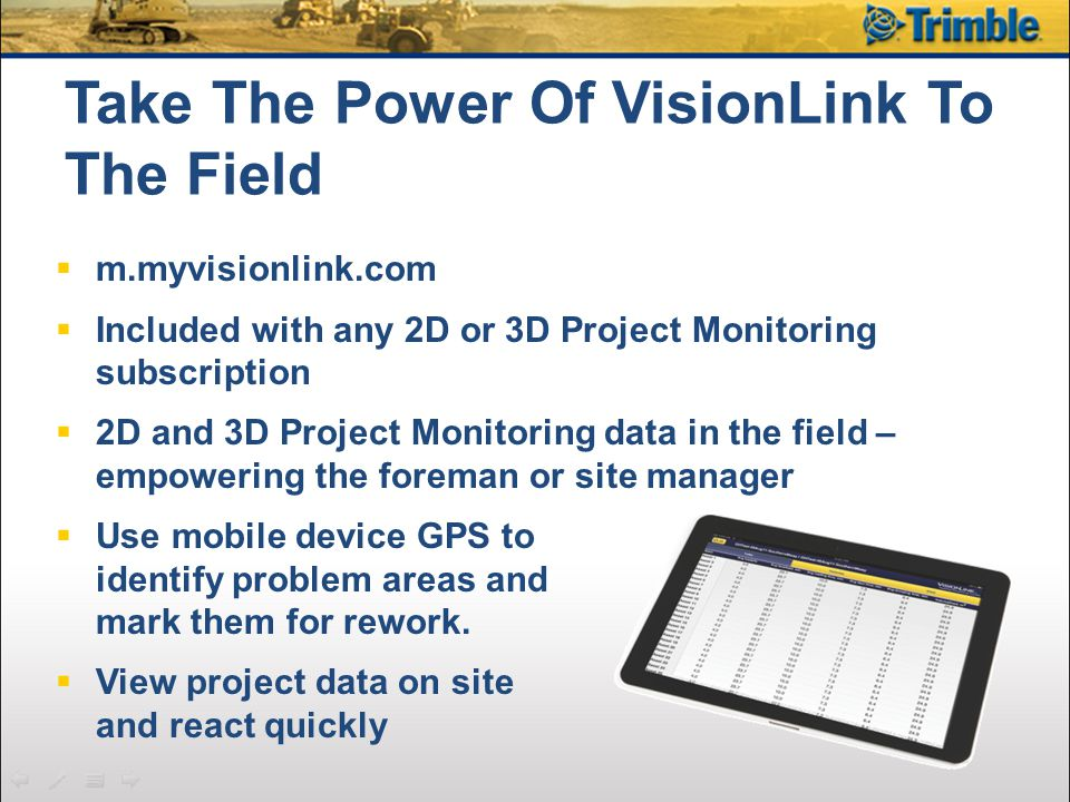 Take The Power Of VisionLink To The Field