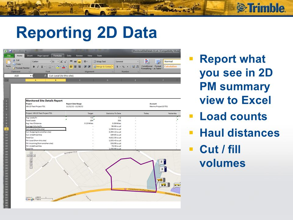 Reporting 2D Data Report what you see in 2D PM summary view to Excel