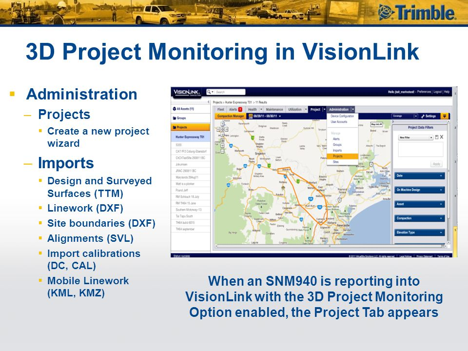 3D Project Monitoring in VisionLink