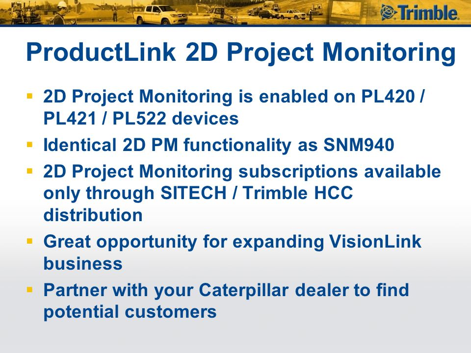 ProductLink 2D Project Monitoring