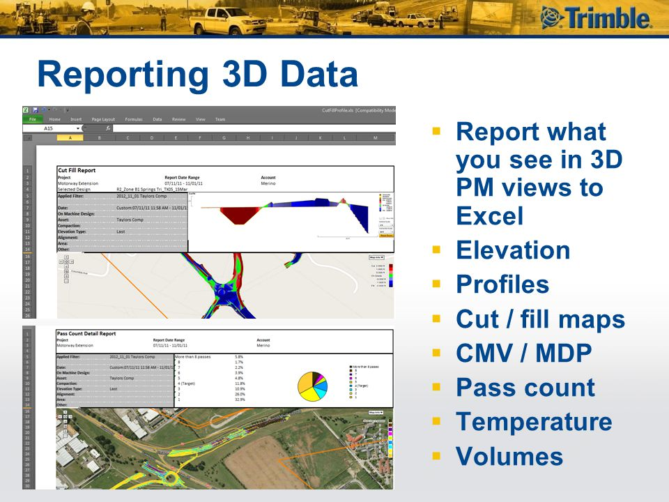 Reporting 3D Data Report what you see in 3D PM views to Excel