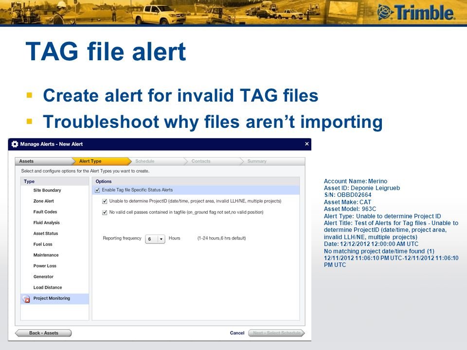 TAG file alert Create alert for invalid TAG files