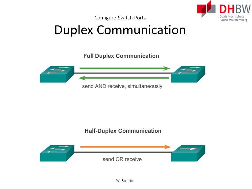 Configure Switch Ports Duplex Communication