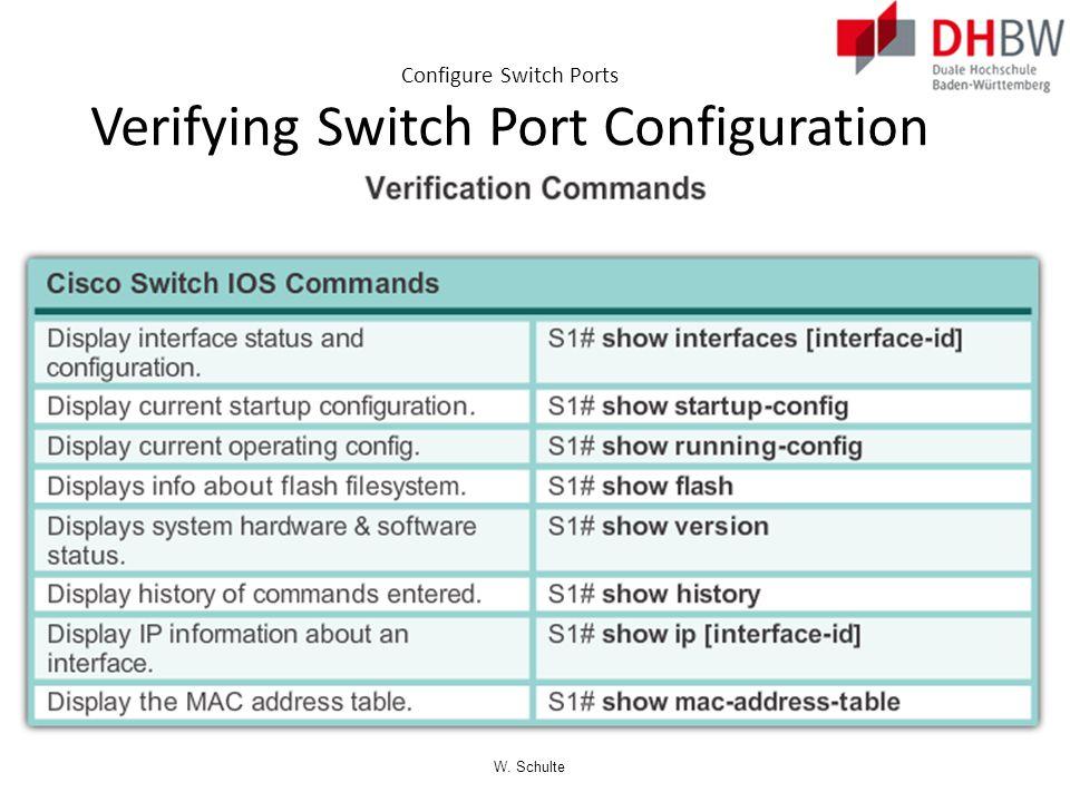 Configure Switch Ports Verifying Switch Port Configuration