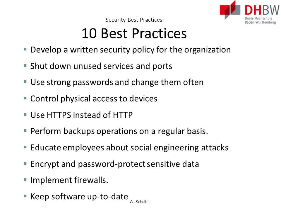 Security Best Practices 10 Best Practices
