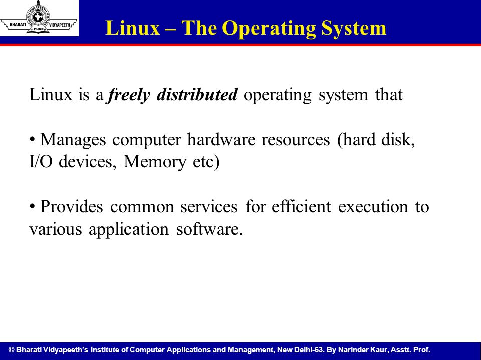 Linux – The Operating System
