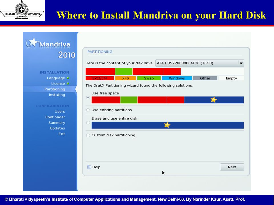 Where to Install Mandriva on your Hard Disk