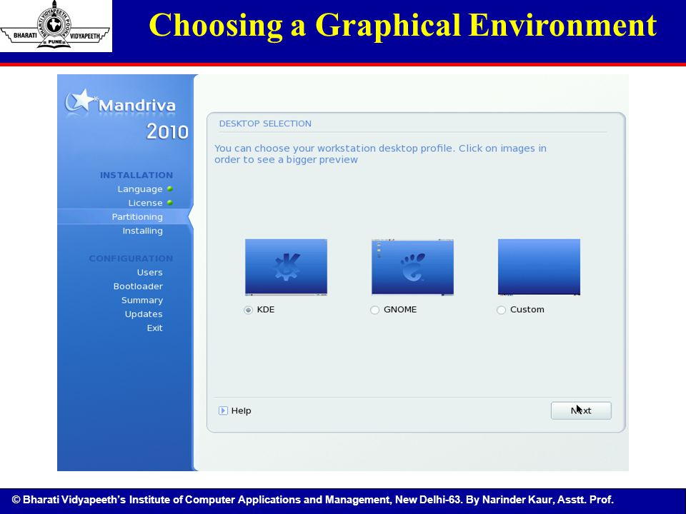Choosing a Graphical Environment