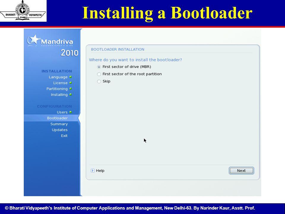 Installing a Bootloader