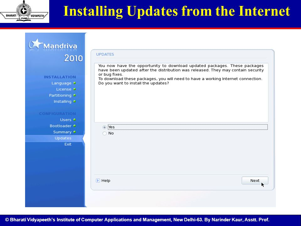Installing Updates from the Internet