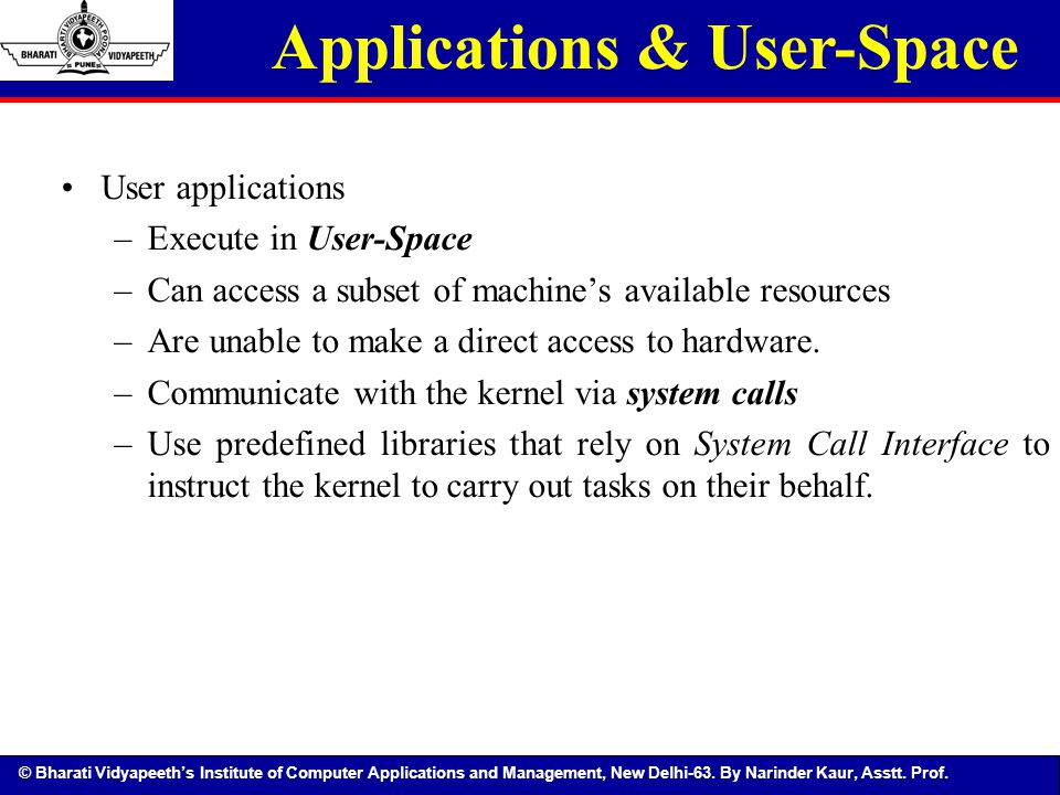 Applications & User-Space