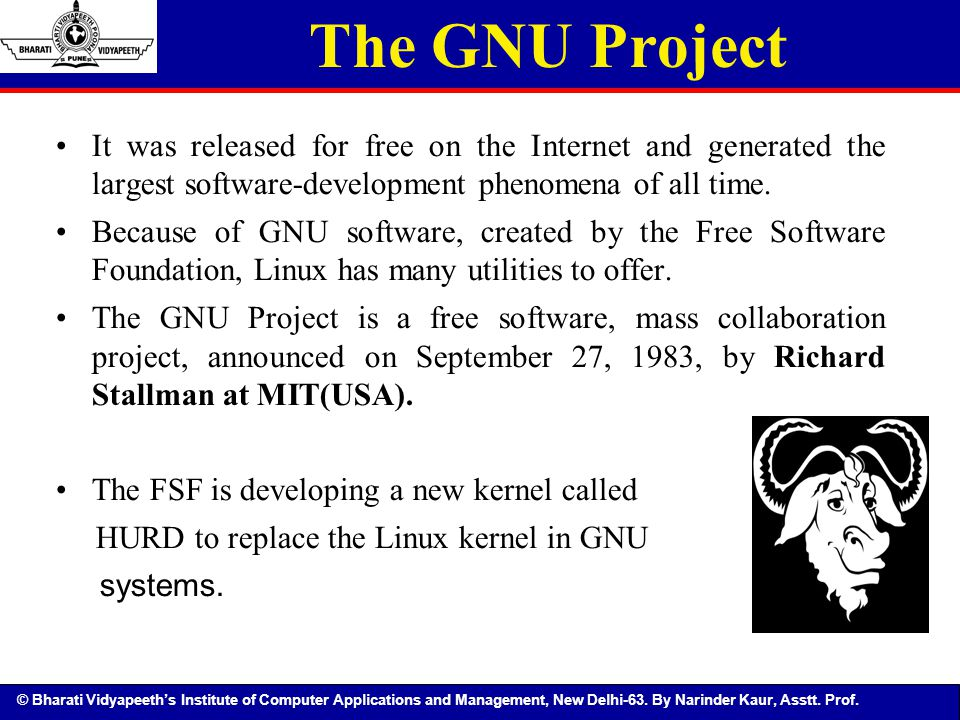 The GNU Project It was released for free on the Internet and generated the largest software-development phenomena of all time.