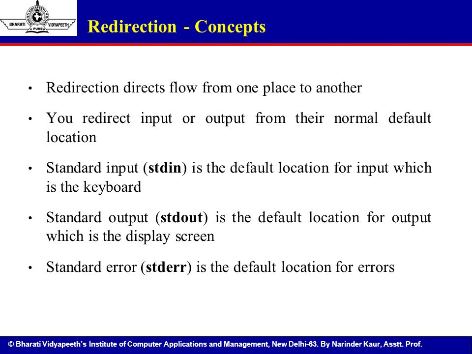 Redirection - Concepts