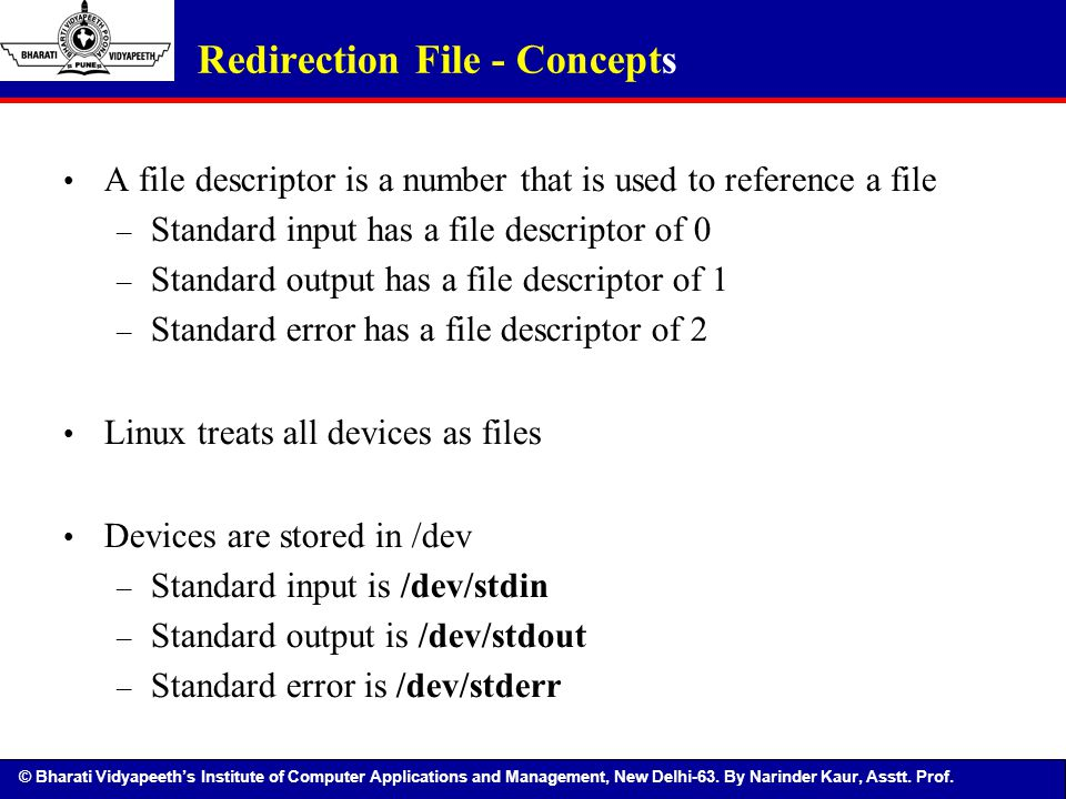 Redirection File - Concepts
