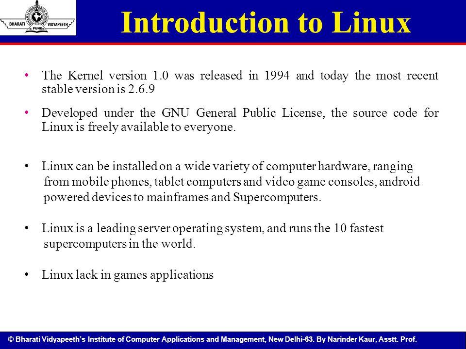 Introduction to Linux Introduction to Linux