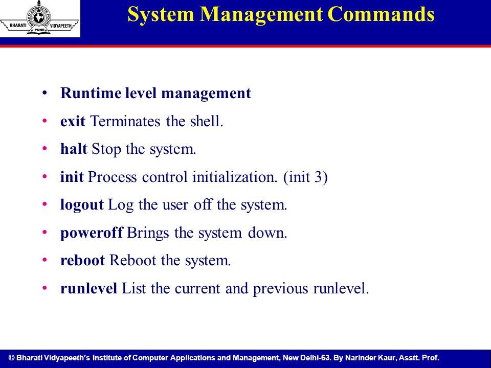 System Management Commands