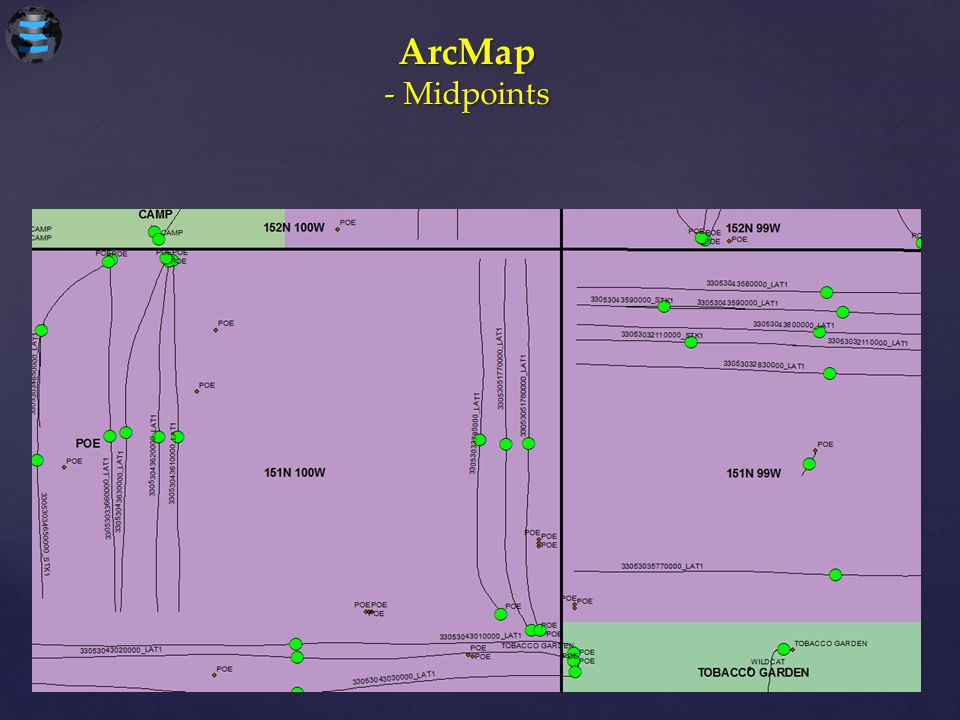 ArcMap - Midpoints