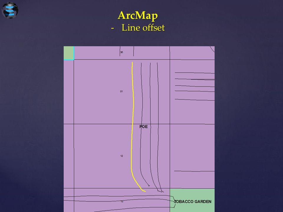 ArcMap Line offset