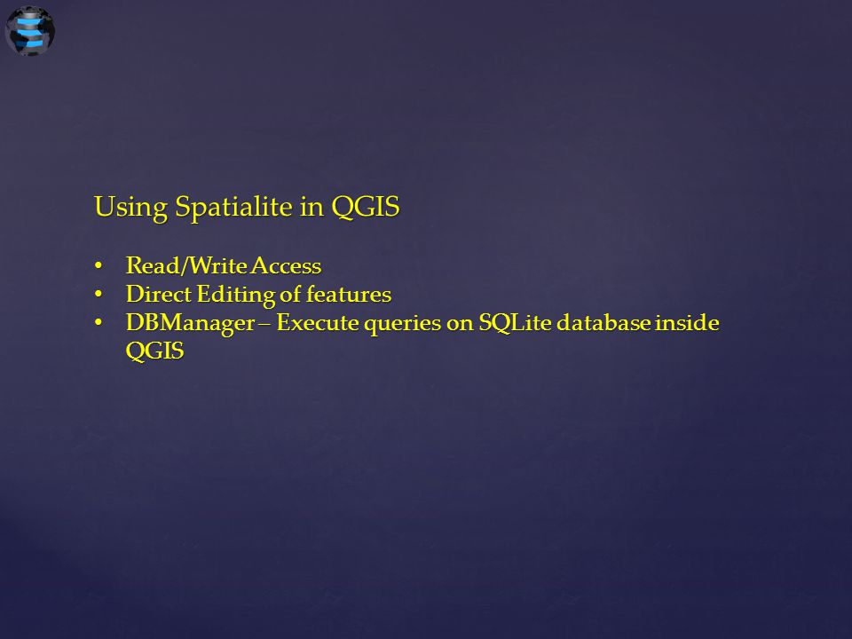 Using Spatialite in QGIS