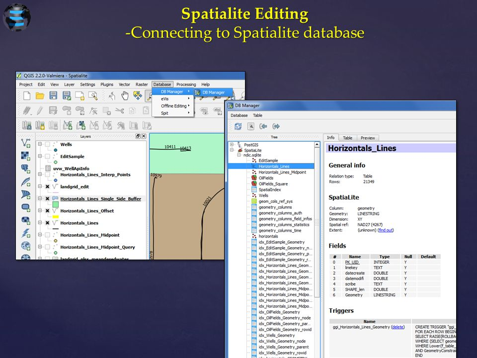 -Connecting to Spatialite database