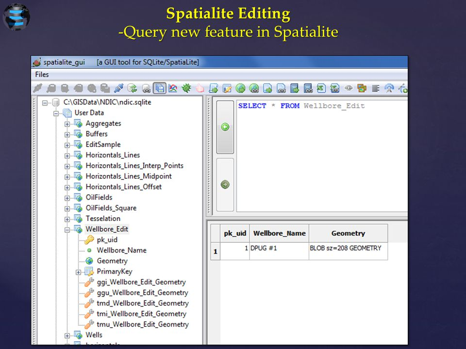 -Query new feature in Spatialite