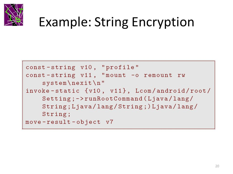 Example: String Encryption