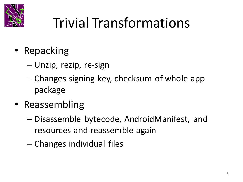 Trivial Transformations