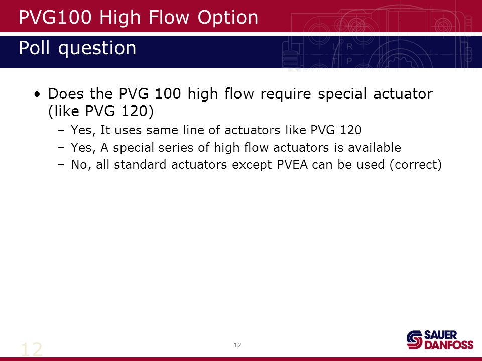 PVG100 High Flow Option Poll question