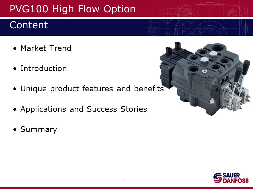PVG100 High Flow Option Content