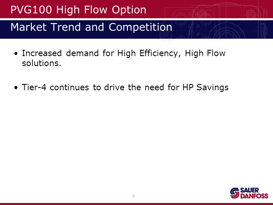 PVG100 High Flow Option Market Trend and Competition