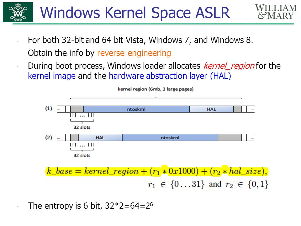 Windows Kernel Space ASLR