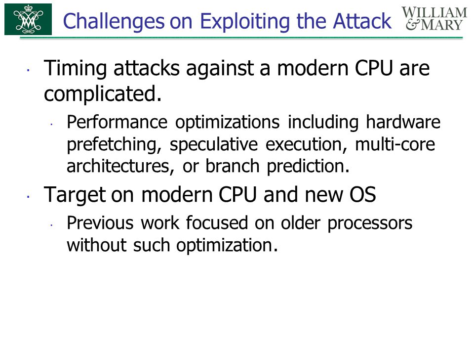Challenges on Exploiting the Attack