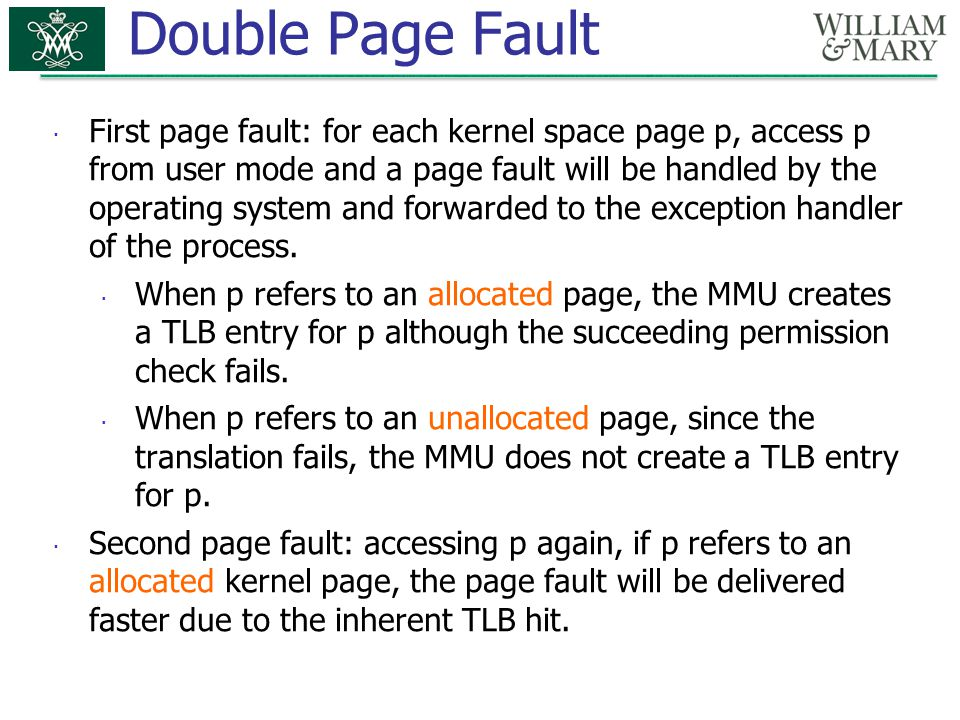 Double Page Fault