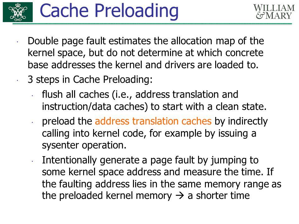 Cache Preloading