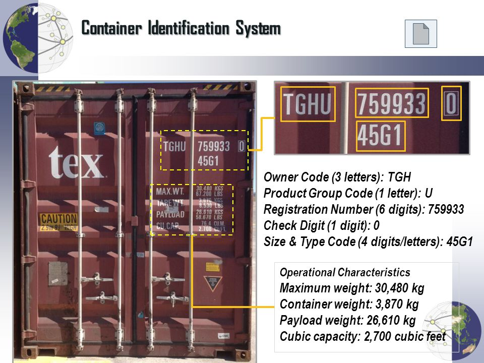 Container Identification System