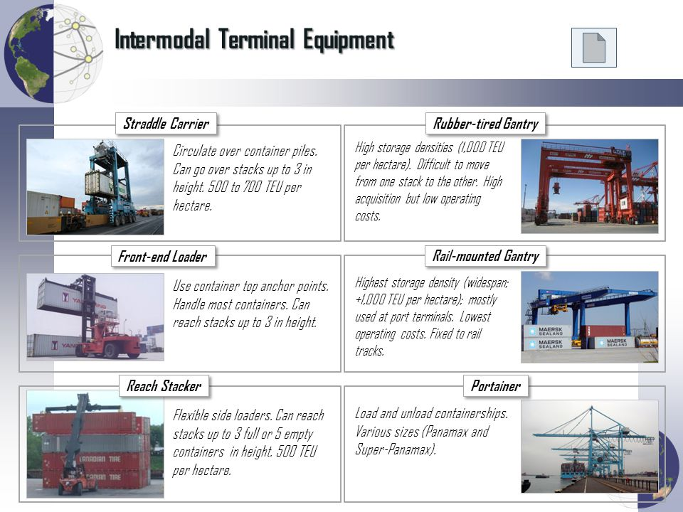 Intermodal Terminal Equipment